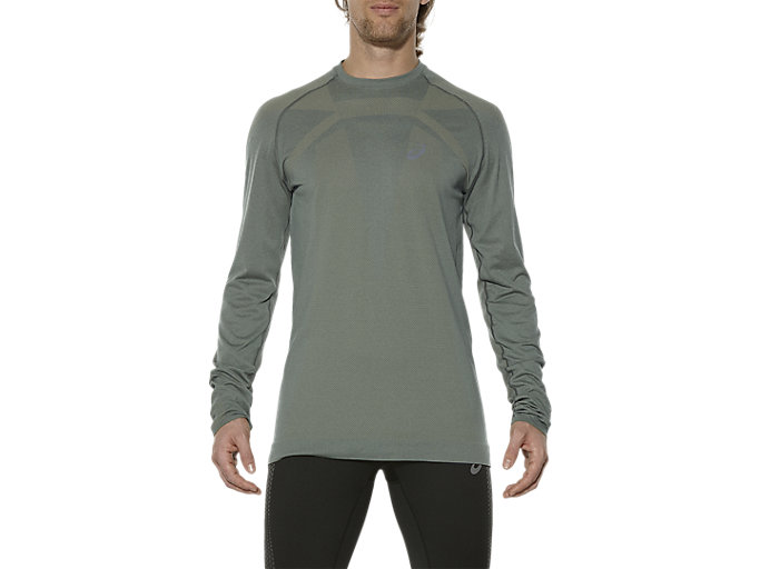 Front Top view of M SEAMLESS LS, EUCALYPTUS