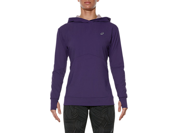 Front Top view of JERSEY-HOODIE, PARACHUTE PURPLE