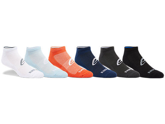 6PPK INVISIBLE SOCK white/black/grey/peacoat/smoke blue/marigold