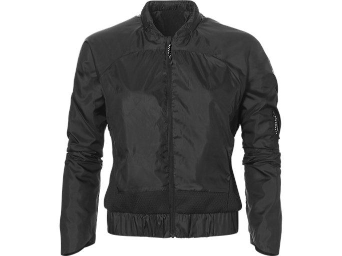 Front Top view of W TECH JACKET, PERFORMANCE BLACK