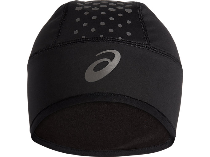 Front Top view of WINTER BEANIE, PERFORMANCE BLACK