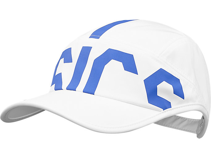 Front Top view of TRAINING CAP, WHITE/ BLUE PURPLE