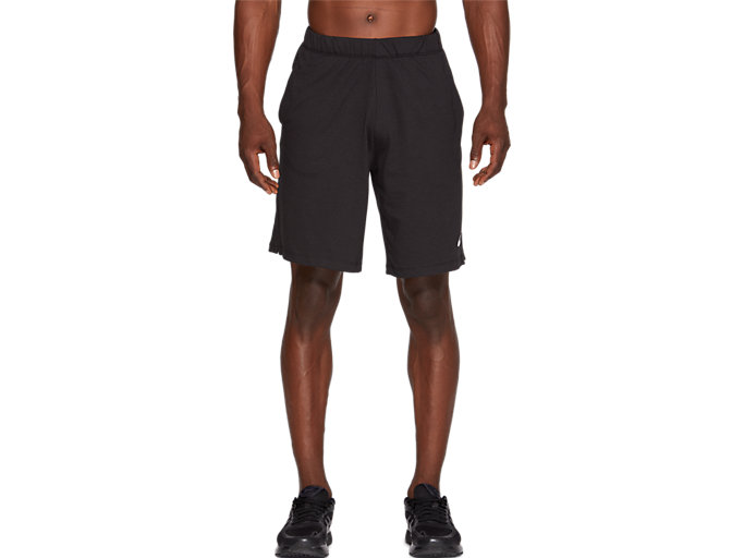 Front Top view of TRAINING SHORT, PERFORMANCE BLACK