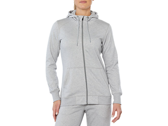 Alternative image view of SPORT KNIT HOOD, HEATHER GREY