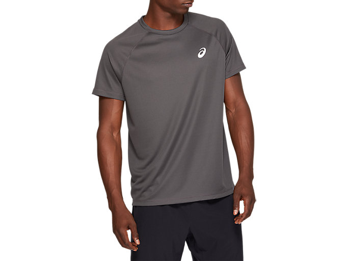 Alternative image view of SPORT RUN TOP, DARK GREY