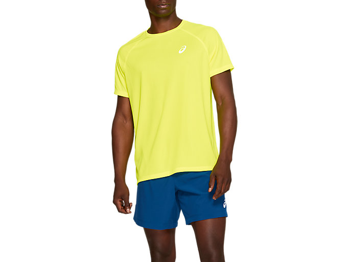 Alternative image view of SPORT RUN TOP, SAFETY YELLOW