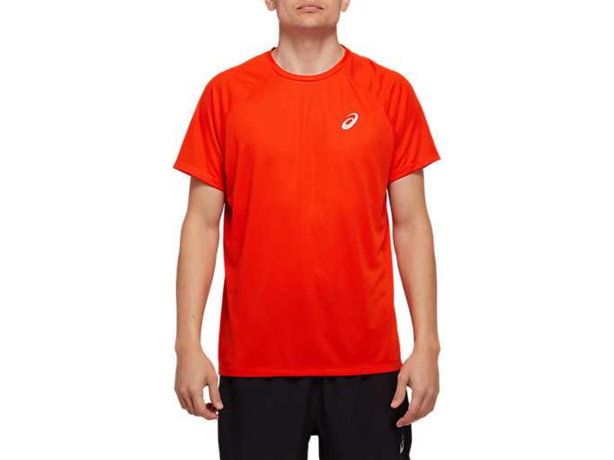 Front Top view of SPORT RUN TOP, CHERRY TOMATO
