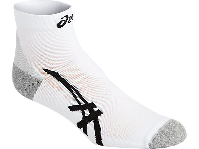Alternative image view of CUSHIONING QUARTER SOCK, REAL WHITE