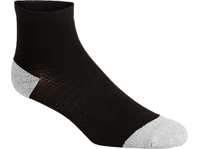 Alternative image view of DISTANCE RUN QUARTER SOCK, PERFORMANCE BLACK