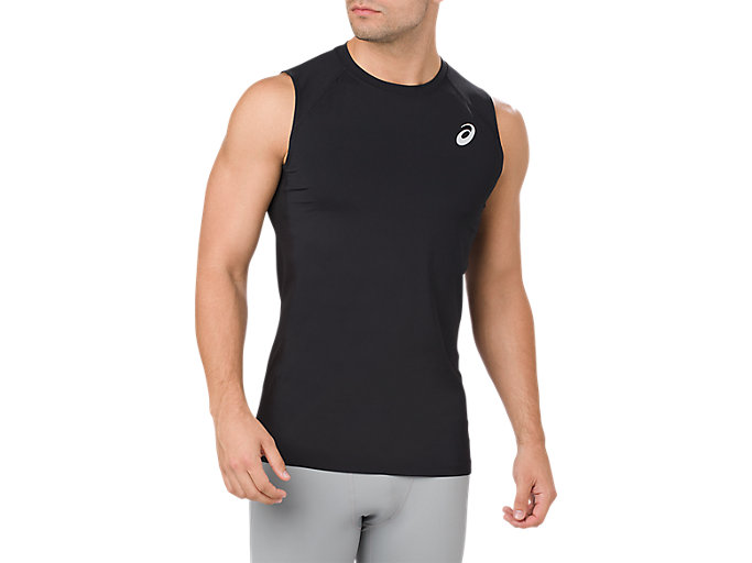 Alternative image view of ASICS BASE LAYER TANK TOP, PERFORMANCE BLACK