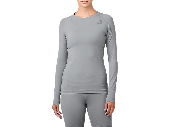 radiador Salida grandioso  Women's ASICS Base Layer Long Sleeve Top | Stone Grey | Long Sleeve Shirts  | ASICS