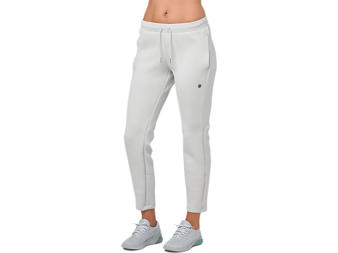 Front Top view of KNIT PANT, BRILLIANT WHITE