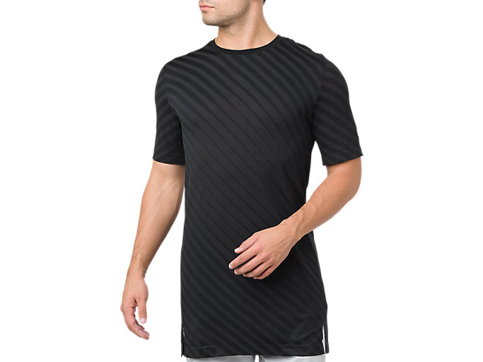 Front Top view of SEAMLESS SS TOP, PERFORMANCE BLACK