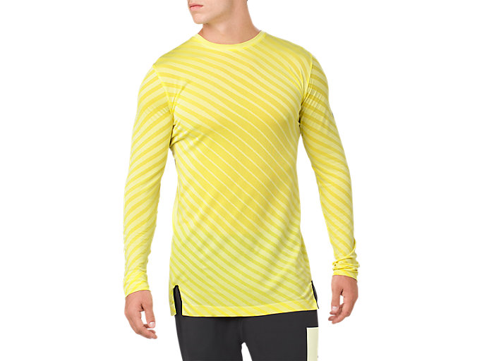 Front Top view of SEAMLESS LS TOP, LIMELIGHT