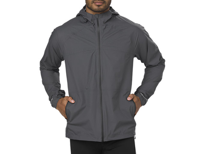 Expresión cache Volcánico  Unisex WATERPROOF JACKET | DARK GREY | Running | ASICS Outlet