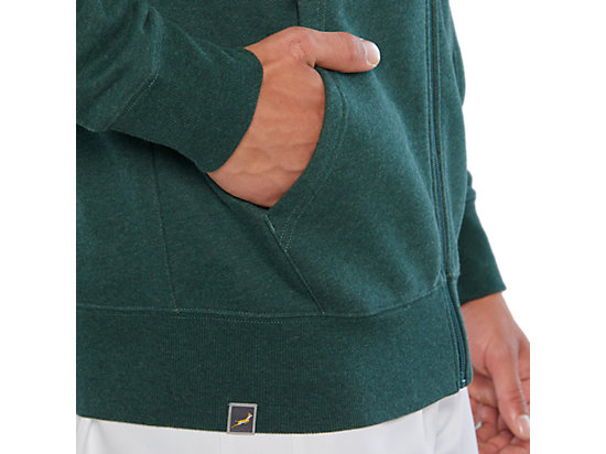 SB ZIP HOODY BOTTLE GREEN HEATHER
