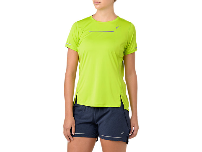 Front Top view of LITE-SHOW SS TOP, NEON LIME