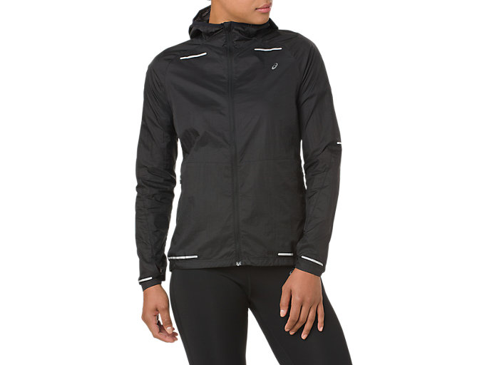 Front Top view of LITE-SHOW JACKET, SP PERFORMANCE BLACK