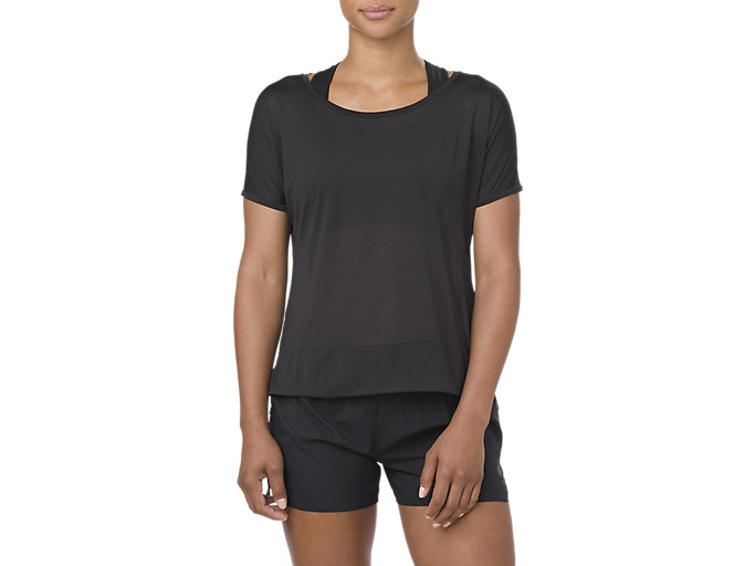 Alternative image view of CROP TOP, PERFORMANCE BLACK