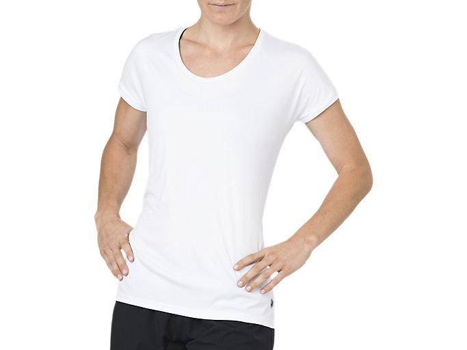 Alternative image view of CAPSLEEVE TOP, BRILLIANT WHITE