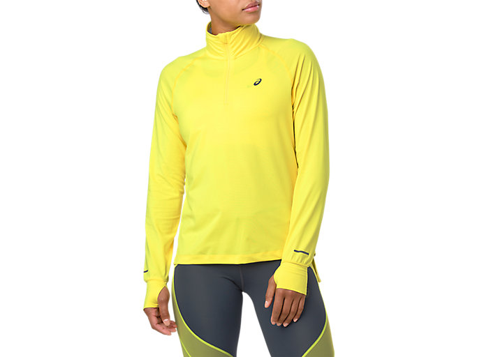 Women's Thermopolis Long Sleeve 1/2 Zip   Lemon Spark   Long ...