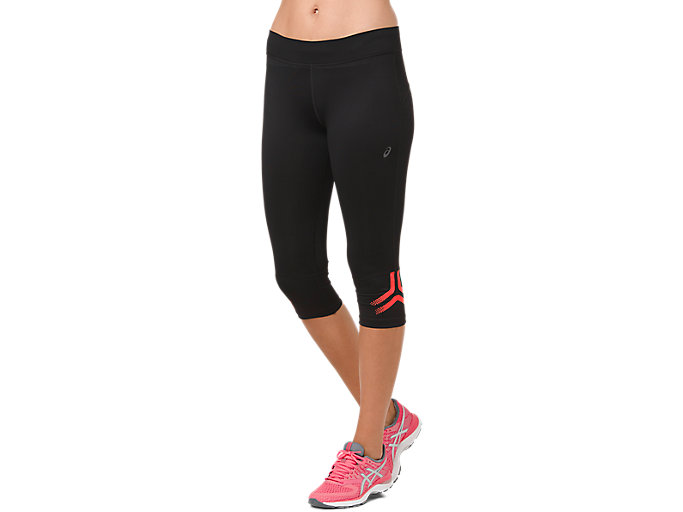 Alternative image view of ICON KNEE TIGHT, PERFORMANCE BLACK/FLASH CORAL