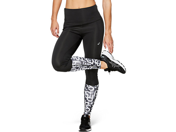 Alternative image view of HIGHWAIST TIGHT, PERFORMANCE BLACK/HEX TYPE BRILLIANT WHITE