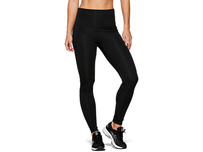 Front Top view of HIGHWAIST TIGHT, PERFORMANCE BLACK