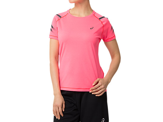 ICON SS TOP LASER PINK HEATHER