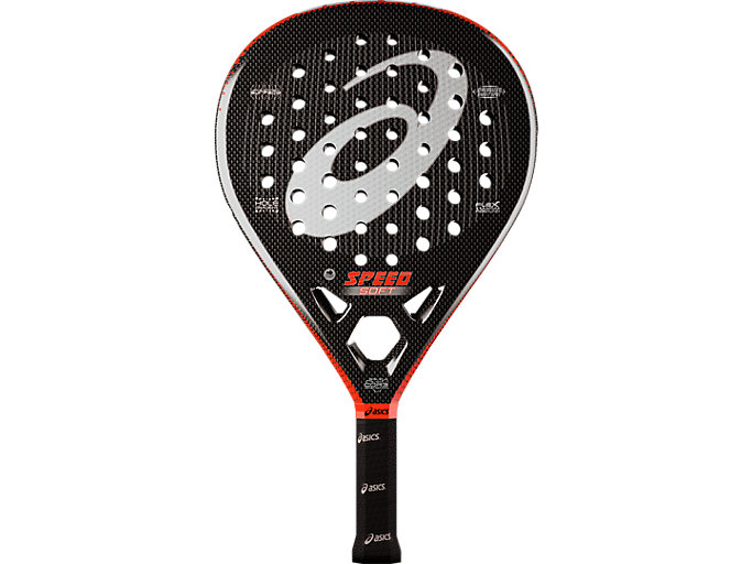 Front Top view of SPEED PADEL RACKET SOFT, CHERRY TOMATO