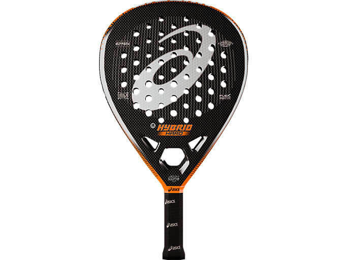 Front Top view of HYBRID PADEL RACKET HARD, ORANGE RAQUET