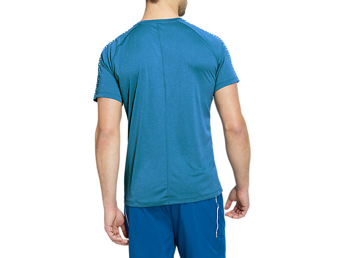 Alternative image view of STRIPE SS TOP, Island Blue/Brilliant White
