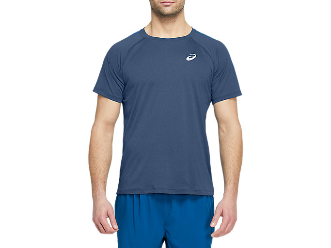 Alternative image view of STRIPE SS TOP, Grand Shark/Directoire Blue