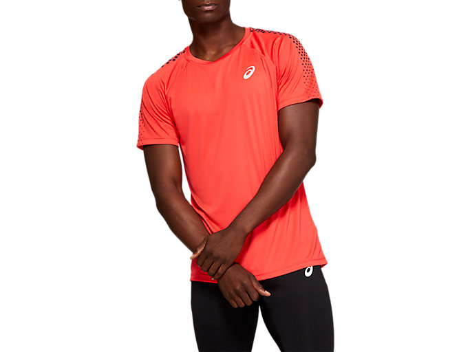 Alternative image view of STRIPE SS TOP, RED ALERT/ROSELLE