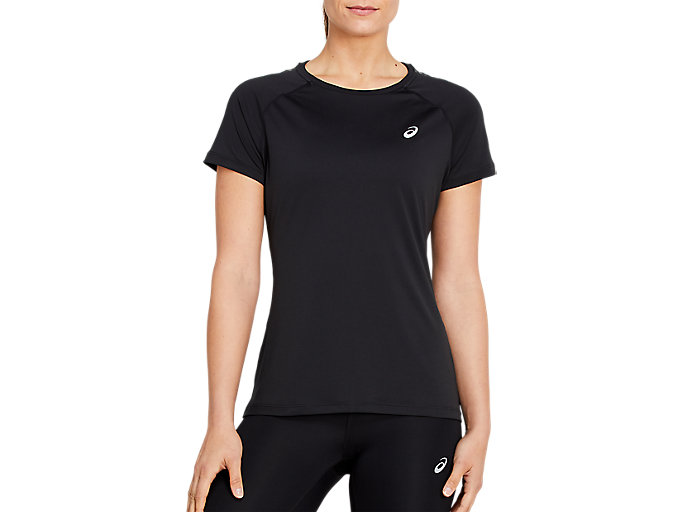 Alternative image view of STRIPE SS TOP, Performance Black