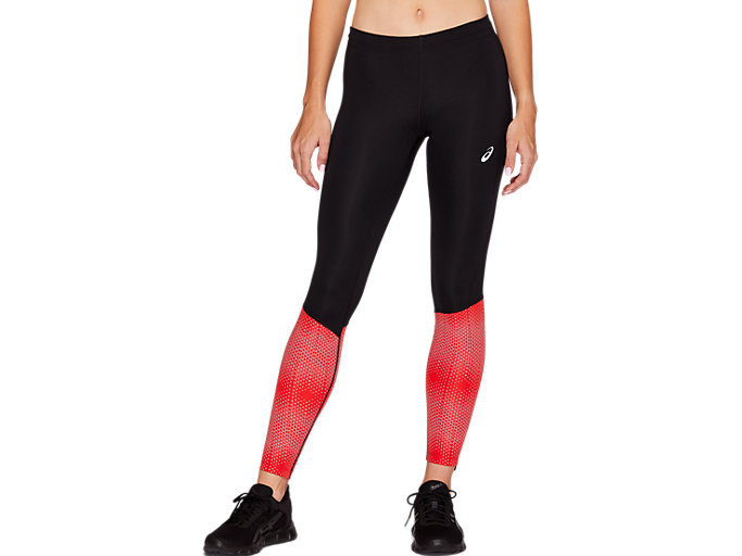 Front Top view of RACE TIGHT, PERFORMANCE BLACK / RED ALERT