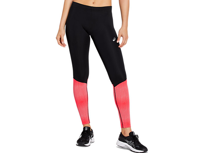 Front Top view of RACE TIGHT, PERFORMANCE BLACK/LASER PINK