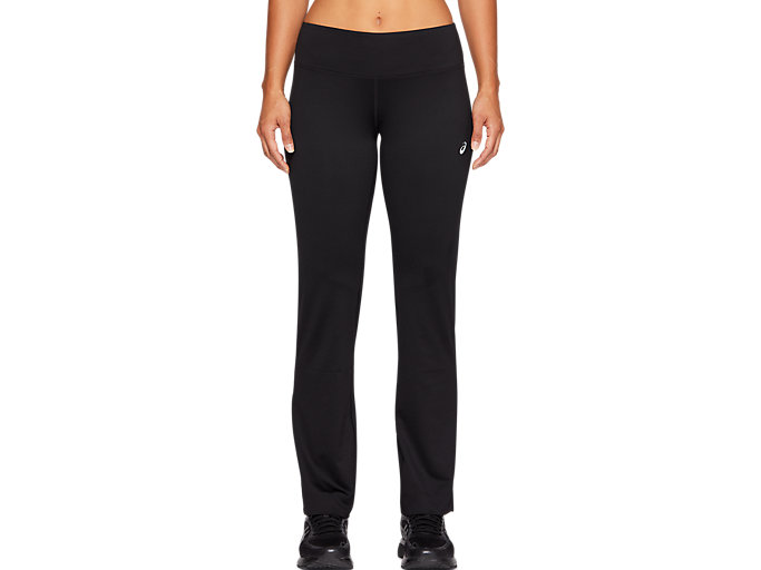 Front Top view of WORKOUT PANT, PERFORMANCE BLACK