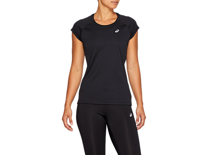 Alternative image view of CAPSLEEVE TOP, PERFORMANCE BLACK
