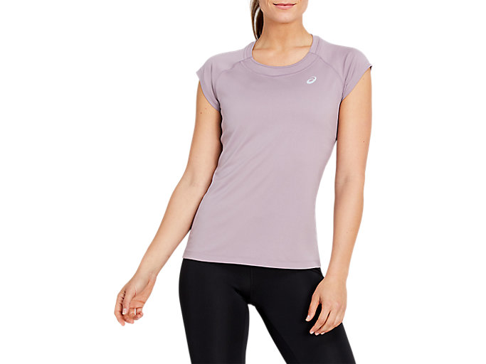 Alternative image view of CAPSLEEVE TOP, VIOLET BLUSH
