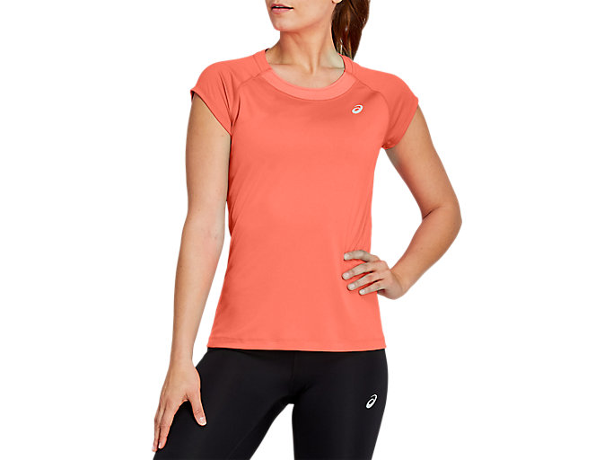 Alternative image view of CAPSLEEVE TOP, Sun Coral