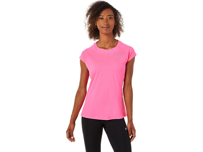 Alternative image view of CAPSLEEVE TOP, Hot Pink