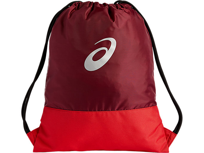 Alternative image view of COLOR BLOCK GYMSACK, CORDOVAN/CAYENNE