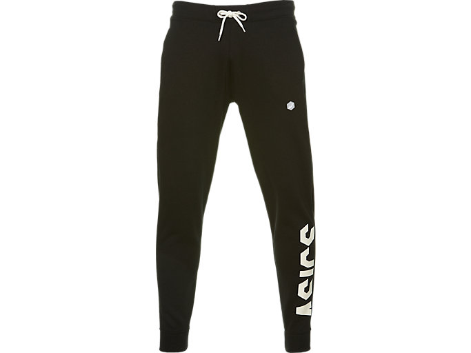 Front Top view of SPORT BIG LOGO PANT, PERFORMANCE BLACK