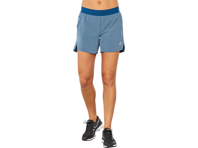 Front Top view of SPORT 5.5 SHORT, POSEIDON HEATHER