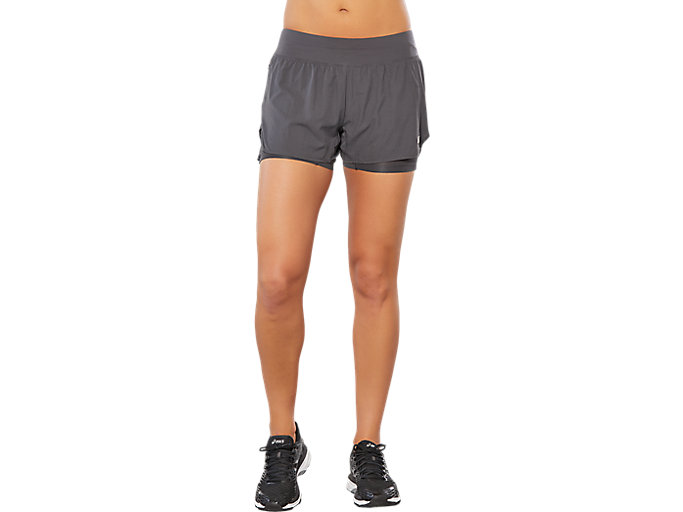 Alternative image view of SPORT 2-IN-1 SHORT, DARK GREY