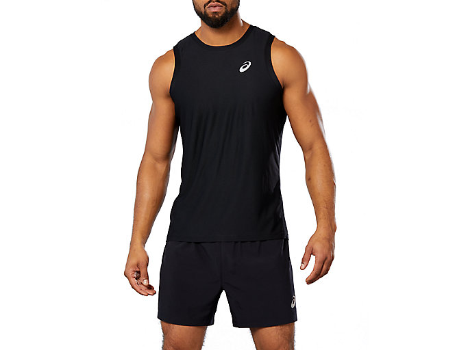 Alternative image view of SPORT SINGLET, Performance Black