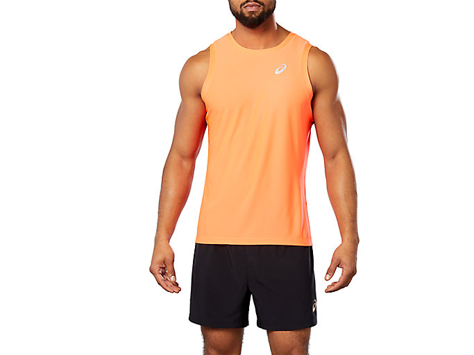 Alternative image view of SPORT SINGLET, FLASH CORAL