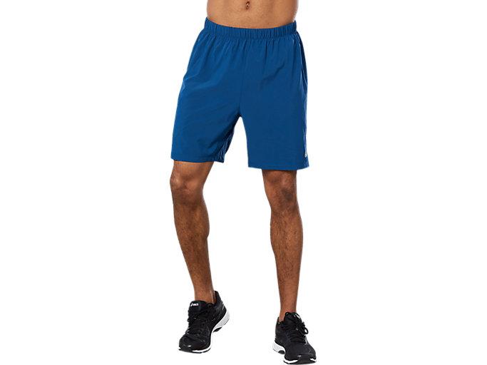 Front Top view of SPORT 7 INCH RUN SHORT, Poseidon