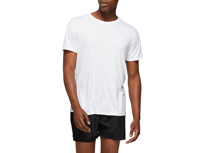 Alternative image view of SILVER SHORT SLEEVED TOP,  Brilliant White